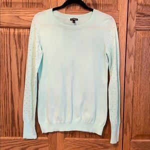 Express embellished sleeve sweater